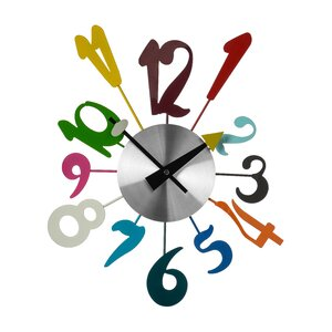 Funky Numbers Wall Clock