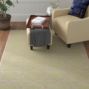 Darla Hand-Tufted Wool Light Green/Ivory Area Rug byWinston Porter