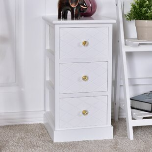 Deals Blanco Wooden Bedside End Table with Storage By House of Hampton