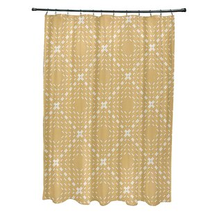 Shirley Dots and Dashes Single Shower Curtain