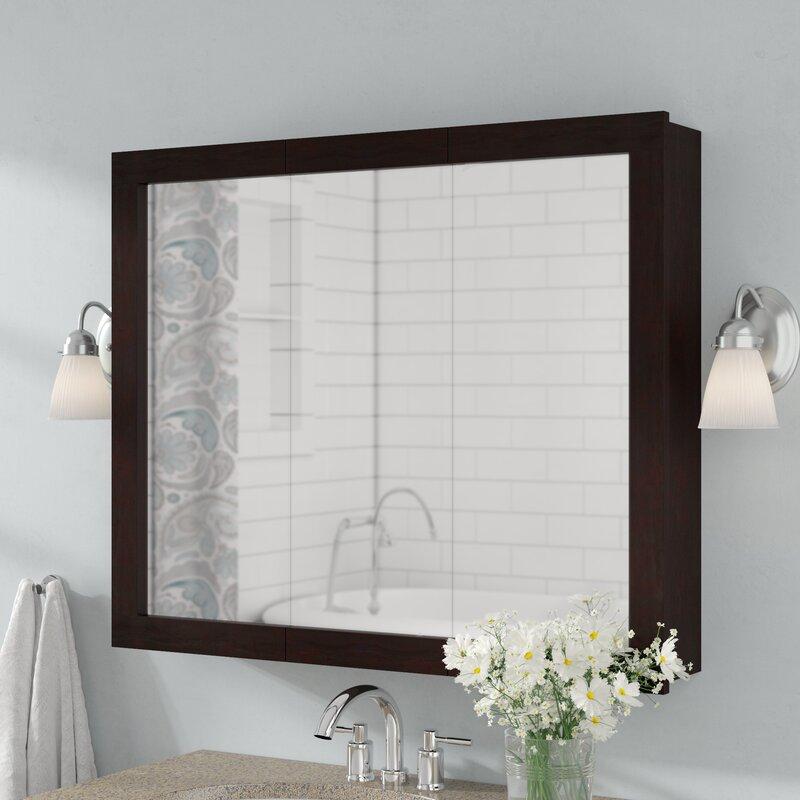 Searle Surface Mount Framed Medicine Cabinet With 2 Shelves