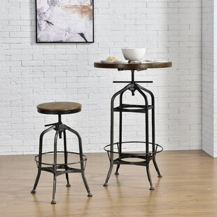 Petrie 2 Piece Adjustable Pub Table Set by Williston Forge