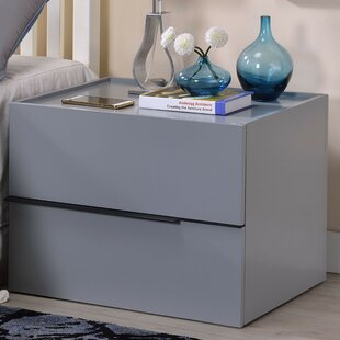 Justina 2 Drawer Nightstand by Brayden Studio