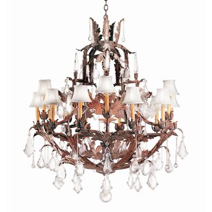 2nd Ave Design French Baroque 15-Light Shaded Chandelier
