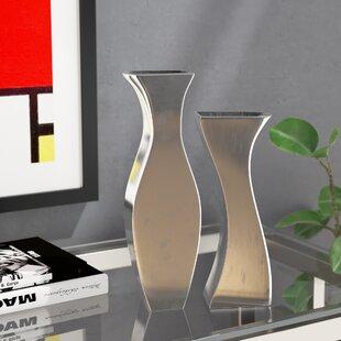 Hadiya Adjoining 2 Piece Table Vase Set byOrren Ellis