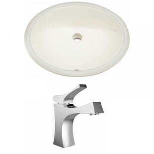 Buy clear Ceramic Oval Undermount Bathroom Sink with Faucet and Overflow By Royal Purple Bath Kitchen