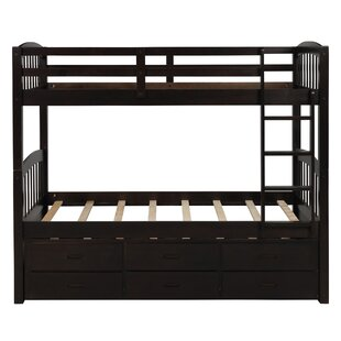 Madely Twin Over Twin Bunk Bed with 3 Drawers by Harriet Bee
