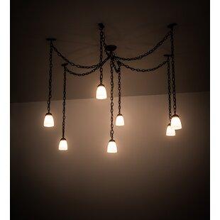 Castilian Adjustable 7-Light Pendant by Meyda Tiffany