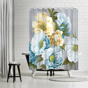 East Urban Home PI Creative Art Chic Peony Iii Shower Curtain