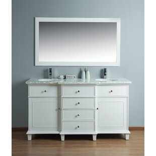 60 Double Sink Bathroom Vanity Set with Mirror