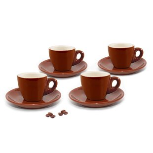 Cappuccino Cup and Saucer (Set of 4)