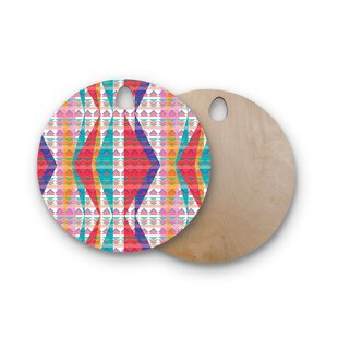 Miranda Mol Birchwood Triangle Illusion Geometric Cutting Board ByEast Urban Home