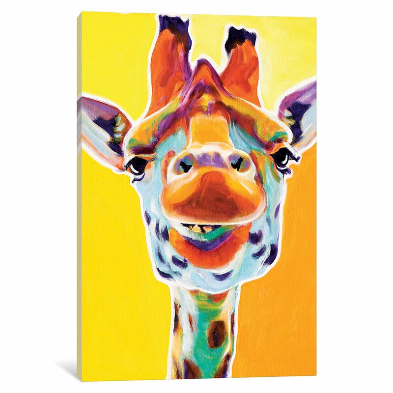 East Urban Home Giraffe Iii Graphic Art On Wrapped Canvas Wayfair Co Uk
