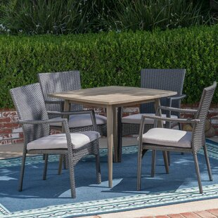 Latitude Run Eliason 5 Piece Dining Set with Cushions