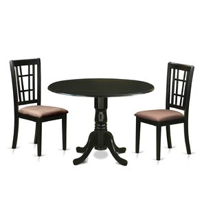 Charlton Home Gloucester 3 Piece Extendable Dining Set