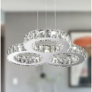 Orren Ellis Leiter 13-Light LED Crystal Chandelier