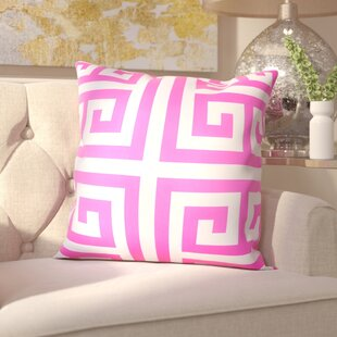 Gallia Geometric Faux Silk Outdoor Throw Pillow