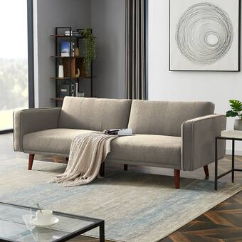 George Oliver Tallant 86 Linen Square Arm Sofa Wayfair