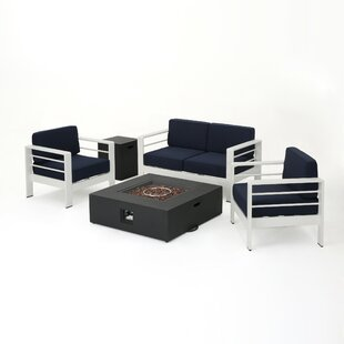 Villegas 5 Piece Sofa Set with Cushions