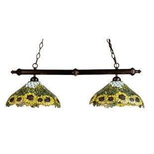 Meyda Tiffany Tiffany Wild Sunflower 2-Light Pool Table Light