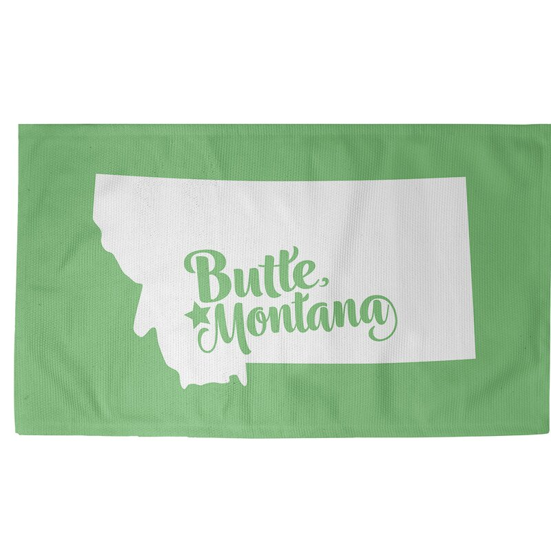 East Urban Home Butte Montana Green Area Rug Wayfair