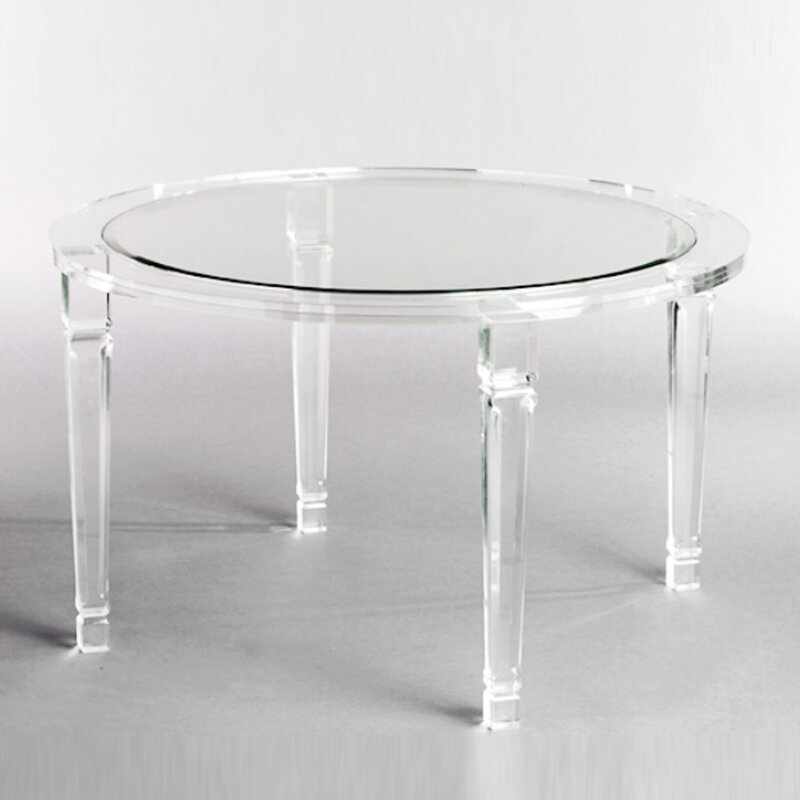 Serge De Troyer Collection Acrylic Dining Table & Reviews | Wayfair