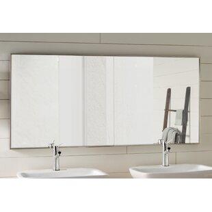 Look for Saterfiel Matte Aluminium Wall Mirror ByLatitude Run
