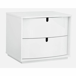 Horridge Wooden 2 Drawer Nightstand by Latitude Run
