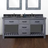 Bulwell 72 Rustic Double Batroom Vanity by Foundry Select