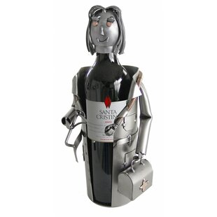 Female Doctor Tabletop Wine Bottle Rack by H & K SCULPTURES