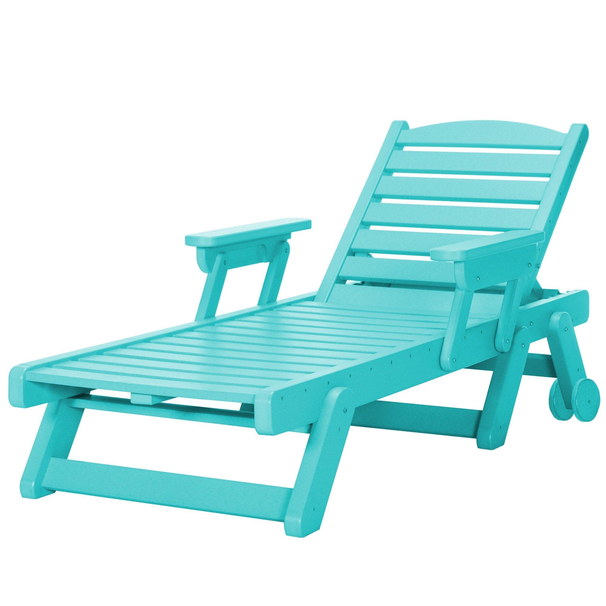 À Roulettes À Longue Chaise Chaise Longue Herrman 0OPk8nw