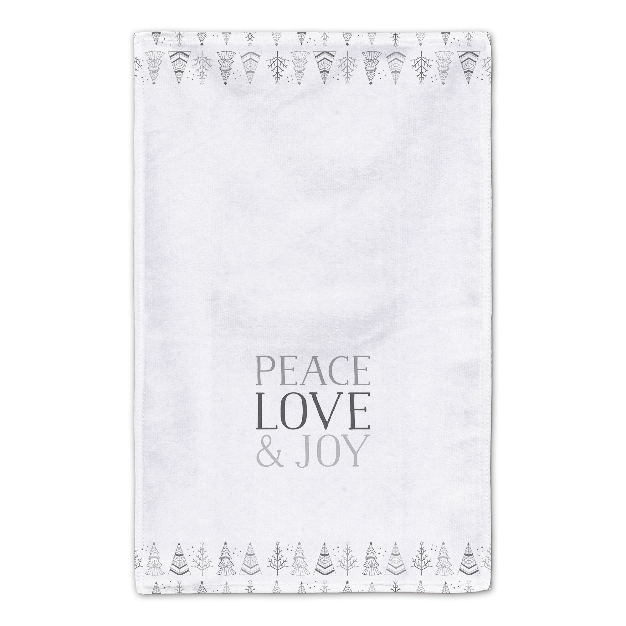 The Holiday Aisle Peace Love And Joy Tea Towel Wayfair