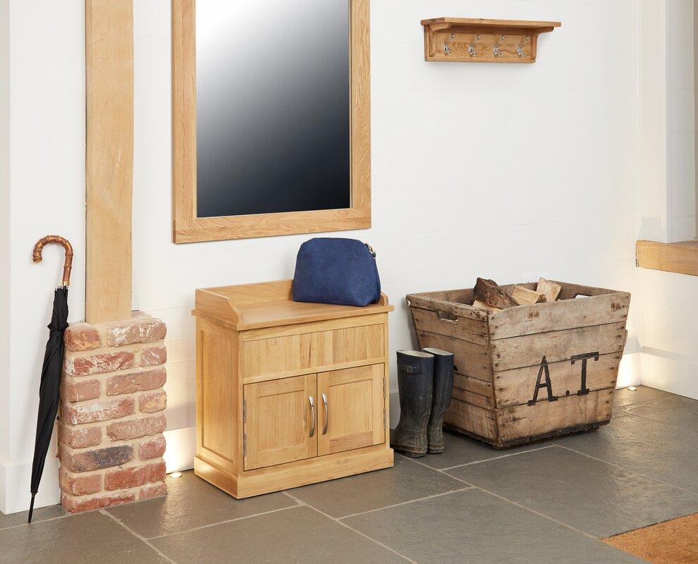 Baumhaus Mobel Oak Wooden Shoe Cabinet & Reviews | Wayfair.co.uk