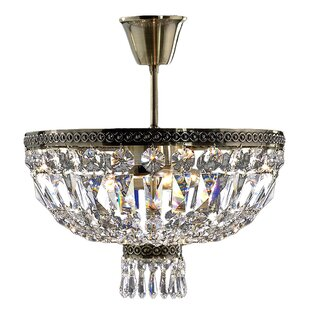 Rosdorf Park Theodora Crystal 4-Light Semi Flush Mount