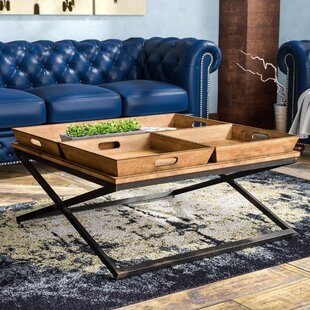 Find for Alewife Industrial Coffee Table with Tray Top ByTrent Austin Design