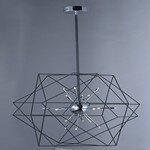 Ivy Bronx Hackmore 24-Light Geometric Chandelier
