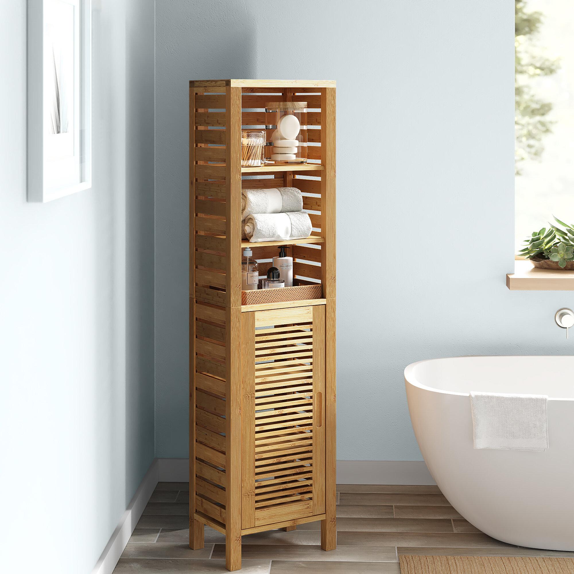 Dotted Line Ayden 16 W X 61 75 H X 11 D Solid Wood Linen Cabinet Reviews Wayfair