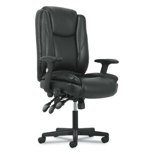 Outland High-Back Genuine Leather Executive Chair by Symple Stuff Wonderful
