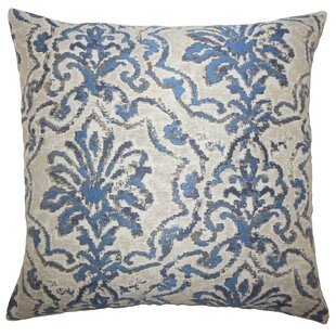 Zain Damask Throw Pillow Cover