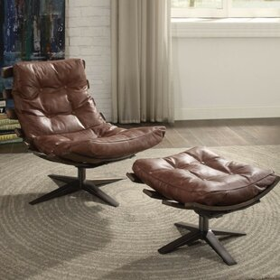 Annabella Upholstered Lounge Chair and Ottoman