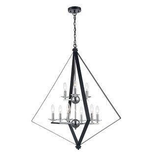 Laughlin 9-Light Geometric Chandelier by Wrought Studio
