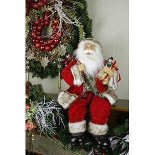sitting santa claus christmas figure - Animated Christmas Figures