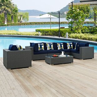 Tripp 7 Piece Sunbrella Sectional Set with Cushions