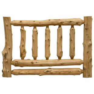 Traditional Cedar Log Slat Headboard By Fireside Lodge