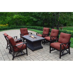 Red Barrel Studio Norfleet 7 Piece Conversation Set with Cushions