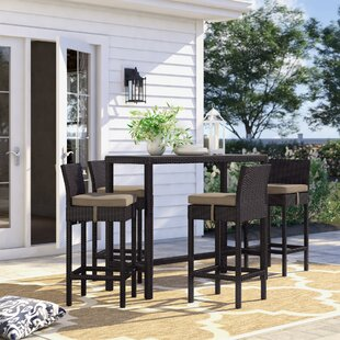 Brentwood 5 Piece Bar Height Dining Set with Cushion