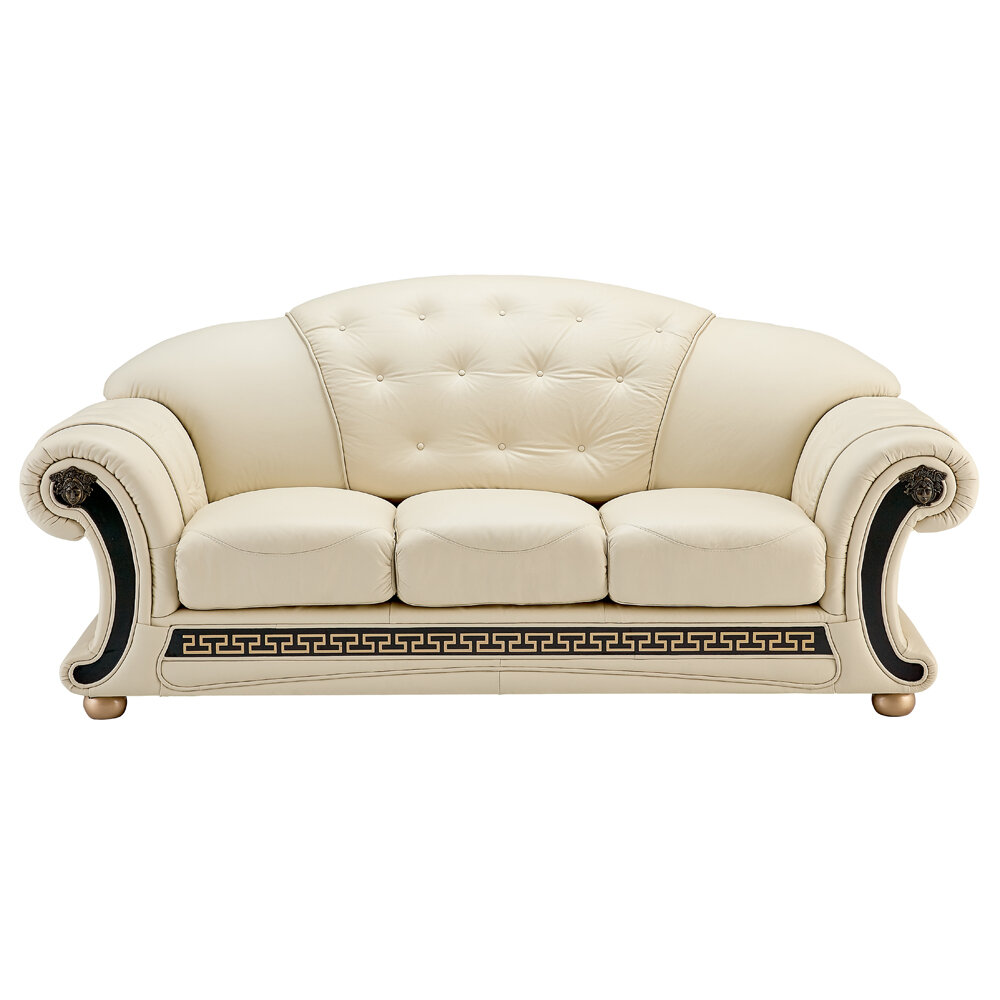 Stupendous Francene Leather Sofa Creativecarmelina Interior Chair Design Creativecarmelinacom