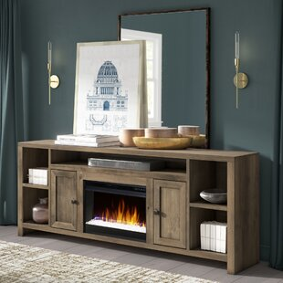 Columbia 84 TV Stand with Fireplace by Greyleigh