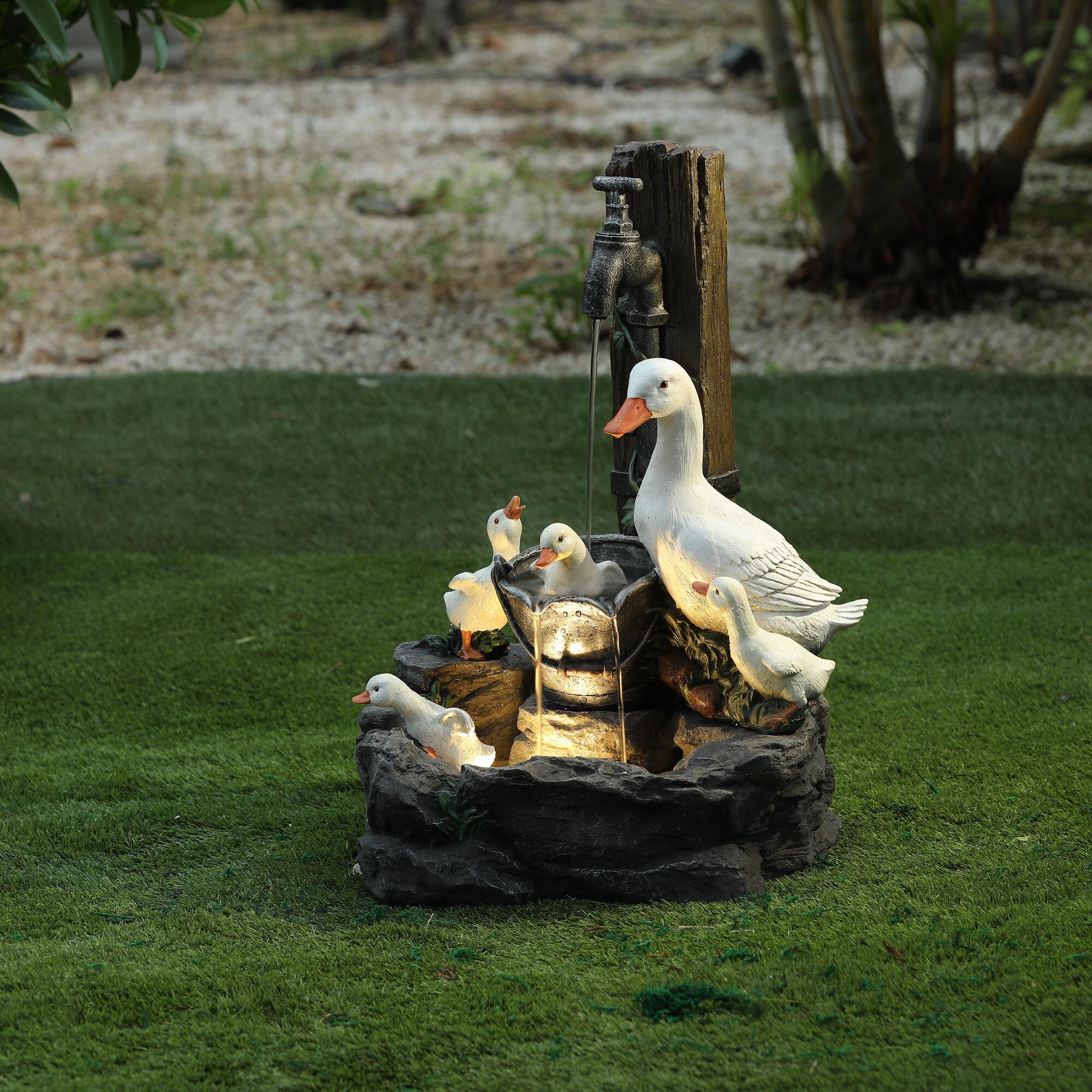 Beckett Sitting Duck Water Feature