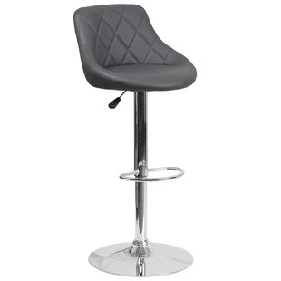 Noell Adjustable Height Swivel Bar Stool Orren Ellis